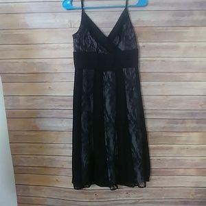 Ann Taylor Spagetti Strap Black Cocktail Dress